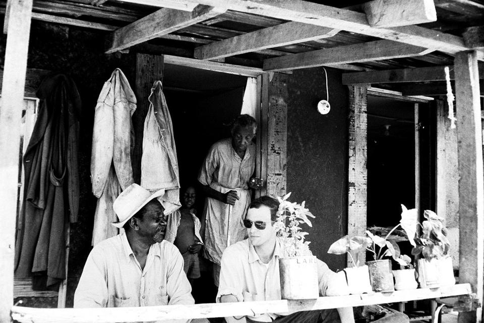 "Jon Else (with sharecroppers near Toomsuba, Miss., in 1964), Henry Hampton's onetime producing partner and author of ""True South,"" a book about Hampton and ""Eyes on the Prize."""