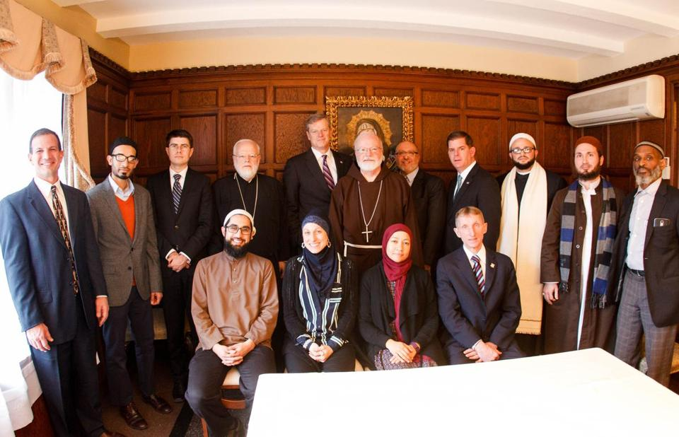 Cardinal O'Malley hosted a gathering of Boston-area Muslim community leaders and local officials, including Boston Mayor Martin J. Walsh and Massachusetts Governor Charlie Baker.