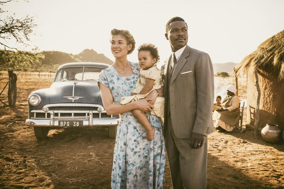Rosamund Pike and David Oyelowo in a scene from director Amma Asante's