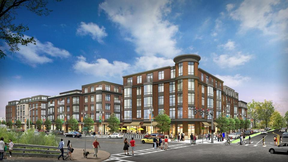 Rendering of a proposed Washington Place development in Newton.