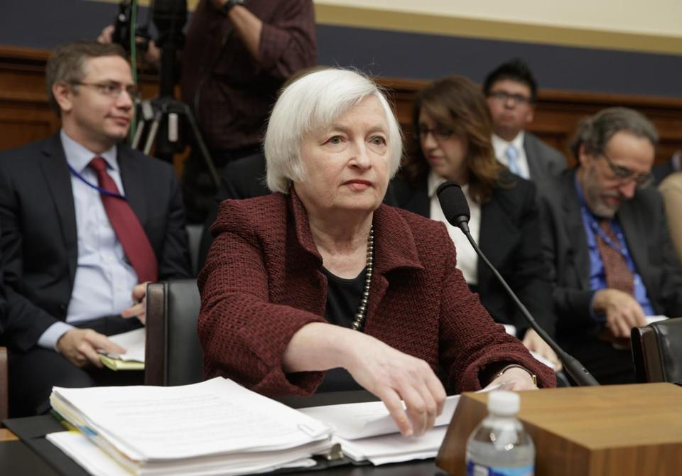 At a House hearing Tuesday, Federal Reserve Chair Janet Yellen opposed congressional restrictions on the Fed,