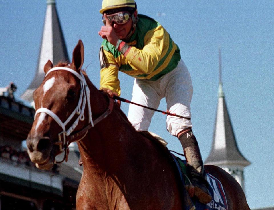 Charismatic, with Chris Antley up, won the 1999 Kentucky Derby, but a Triple Crown was not in the cards.