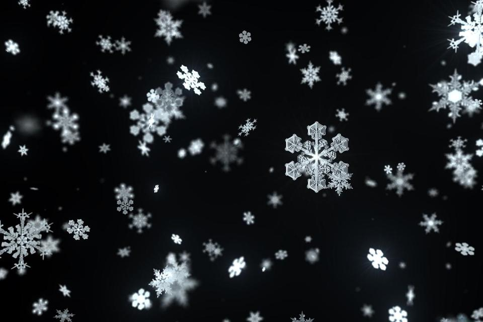 3d rendering abstract background with snowflakes. Christmas or xmas background illustation. Winter holiday theme. High detailed snowflake.
