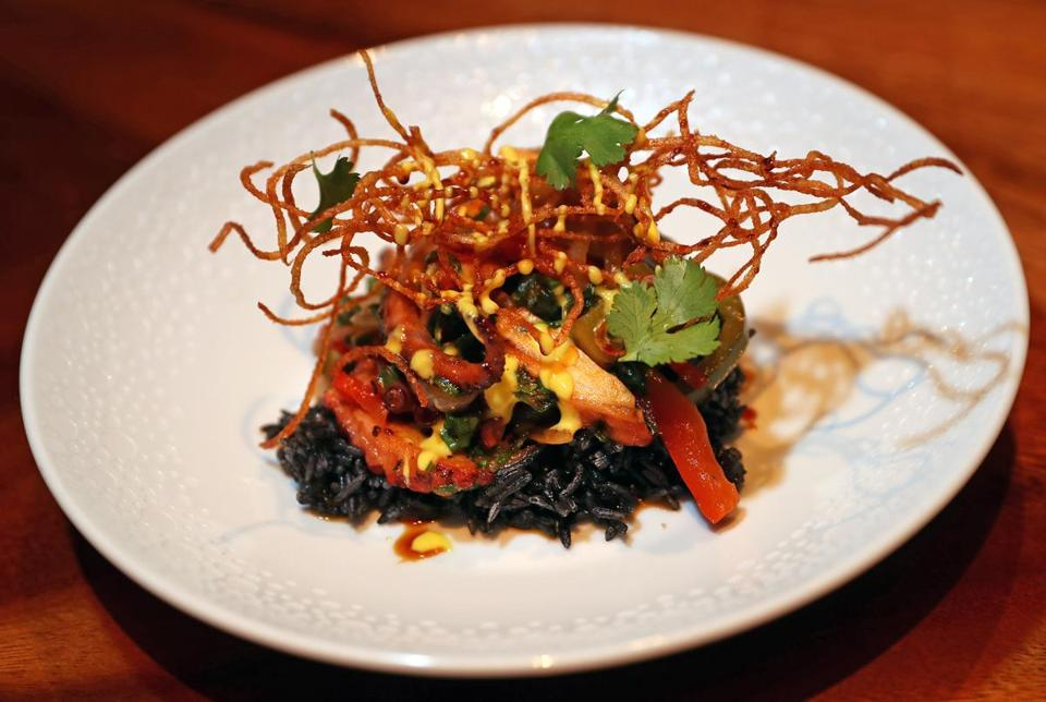 Octopus lomo saltado at Ruka.