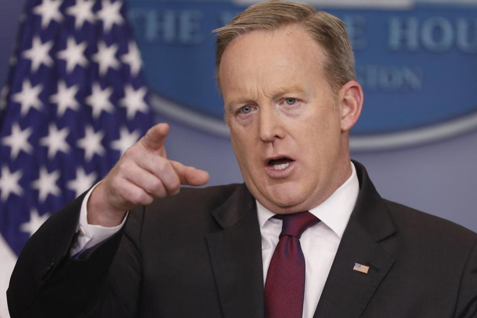 White House Press Secretary Sean Spicer held a briefing Thursday.