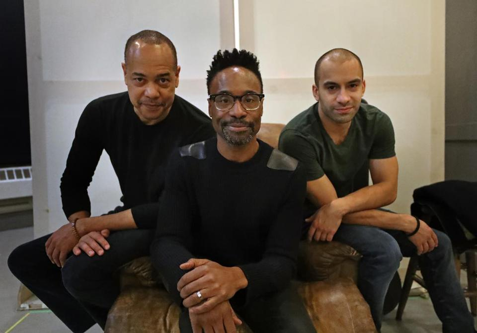 """Topdog/Underdog'' director Billy Porter is flanked by cast members Tyrone Mitchell Henderson (left) and Matthew J. Harris (right)."