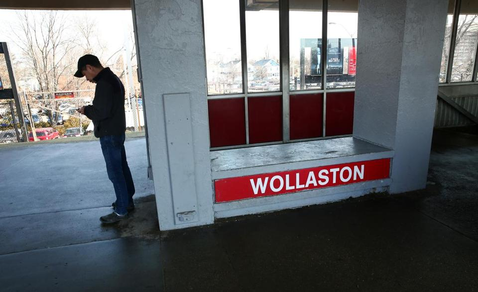 Quincy, MA--2/23/2017 - The Wollaston MBTA station, along with the other three in Quincy, is set for a revamp. Photo by Pat Greenhouse/Globe Staff Topic: sombta Reporter: Jill Terreri Ramos