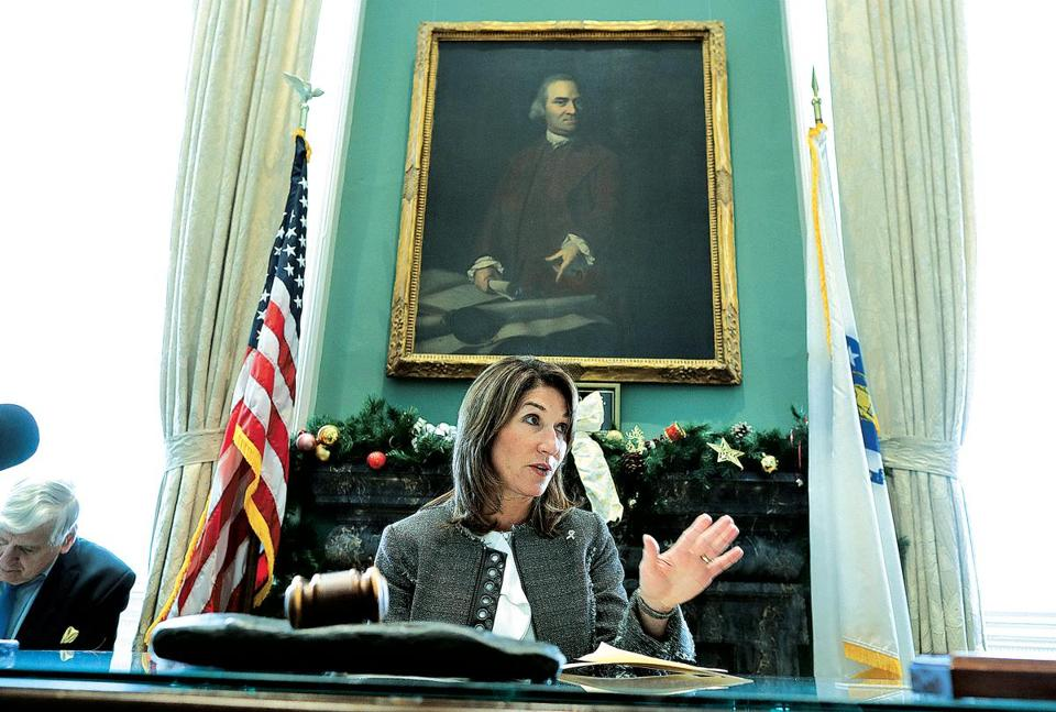 Massachusetts Lieutenant Governor Karyn Polito is one of the recipients of the Greater Boston Chamber of Commerice's Pinnacle Award.