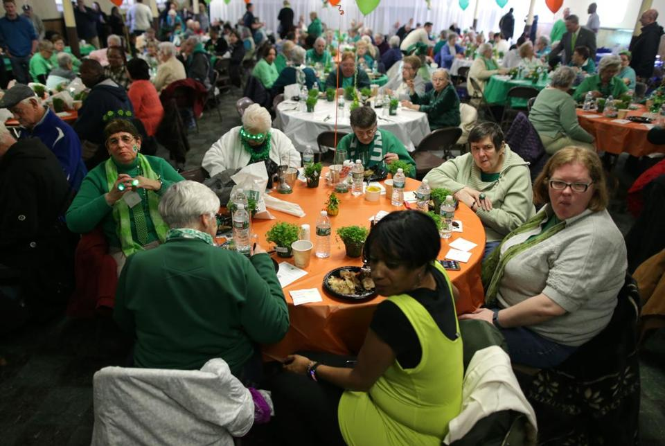 Many expressed support for OUTVETS at a St. Patrick's event in South Boston on Saturday.