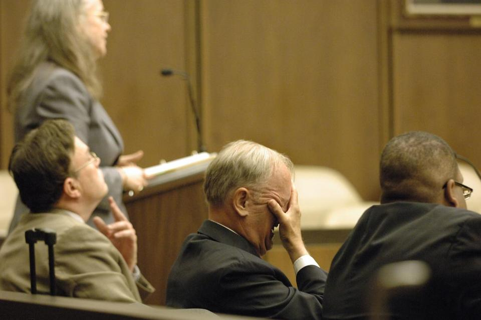 John J. Donovan, Sr. in a Cambridge courtroom in 2007.