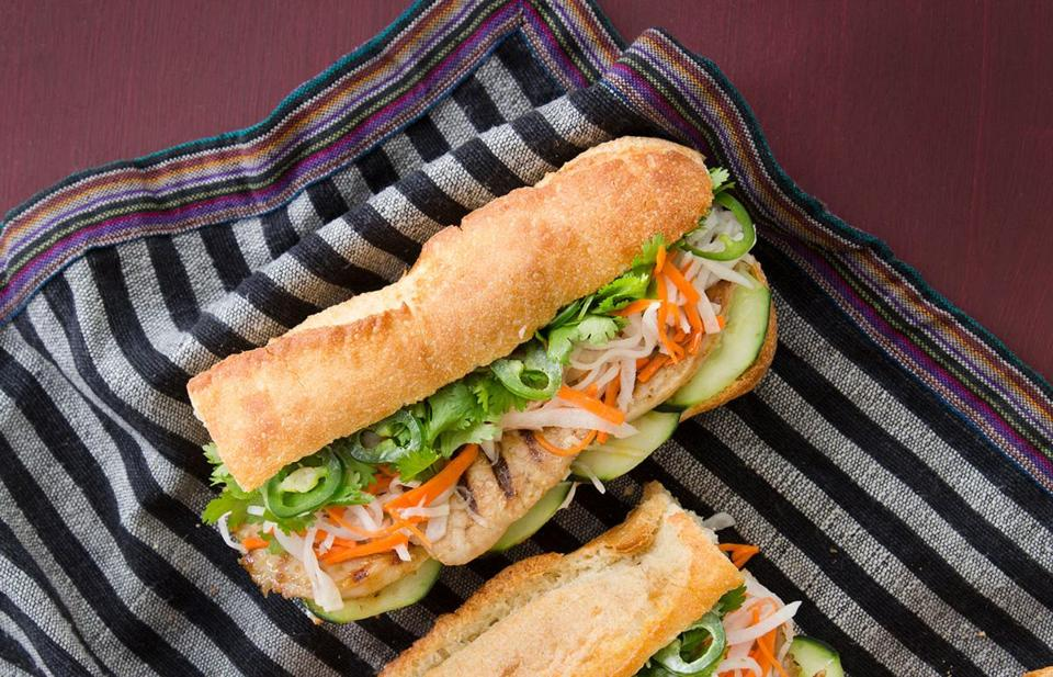 Grilled pork banh mi.