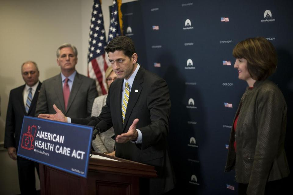 House Speaker Paul Ryan spoke about the American Health Care Act with other Republican leaders last week.