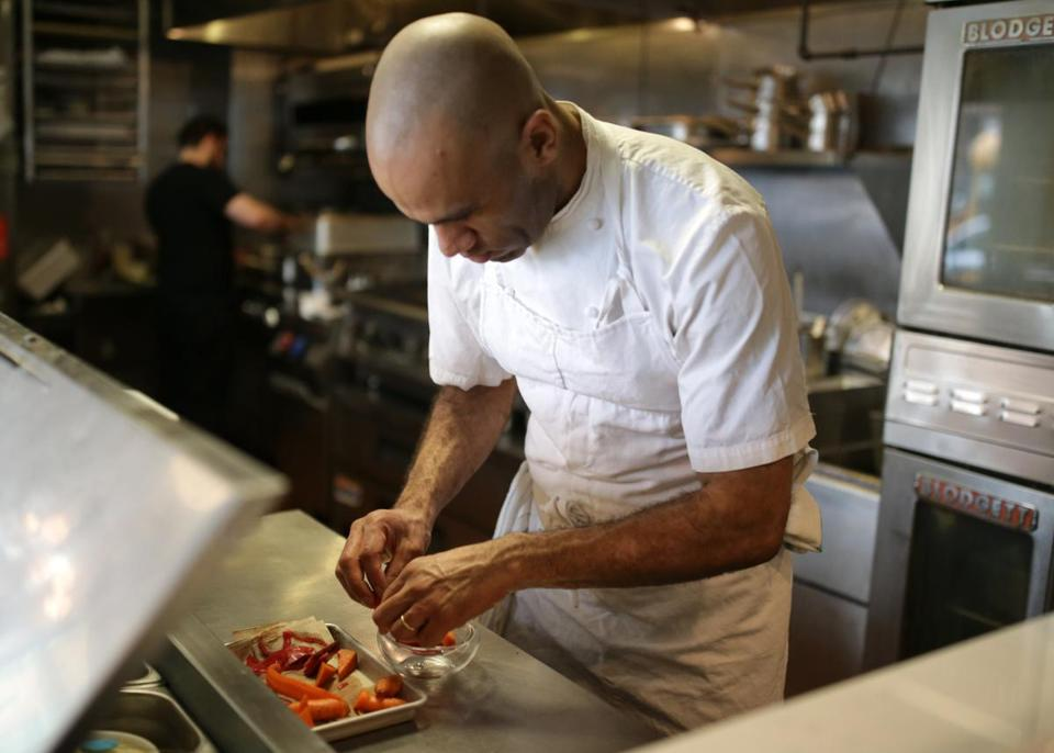 Chef Douglass Williams in the kitchen at Mida.