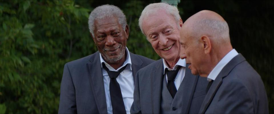 "From left: Morgan Freeman, Michael Caine, and Alan Arkin in ""Going in Style."""