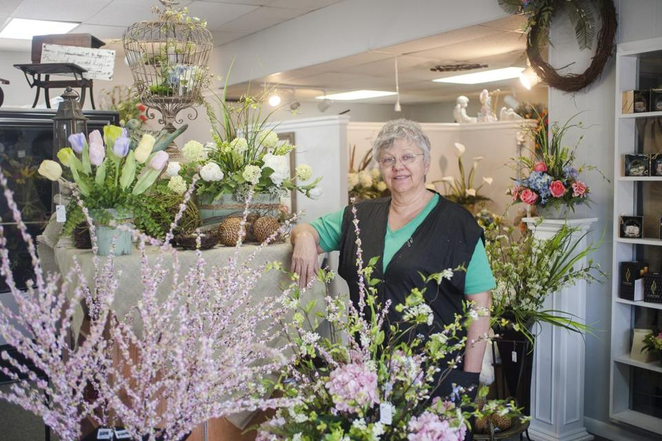 Deb Hooper has owned her flower shop for 25 years in Jasper, Tenn.