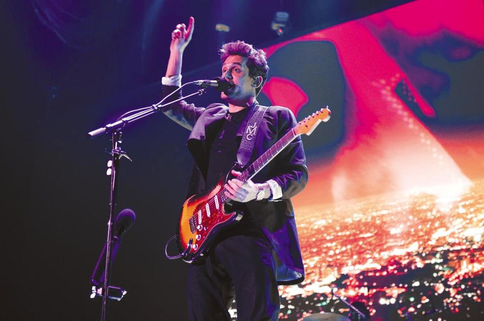 John Mayer performs April 9 at TD Garden.