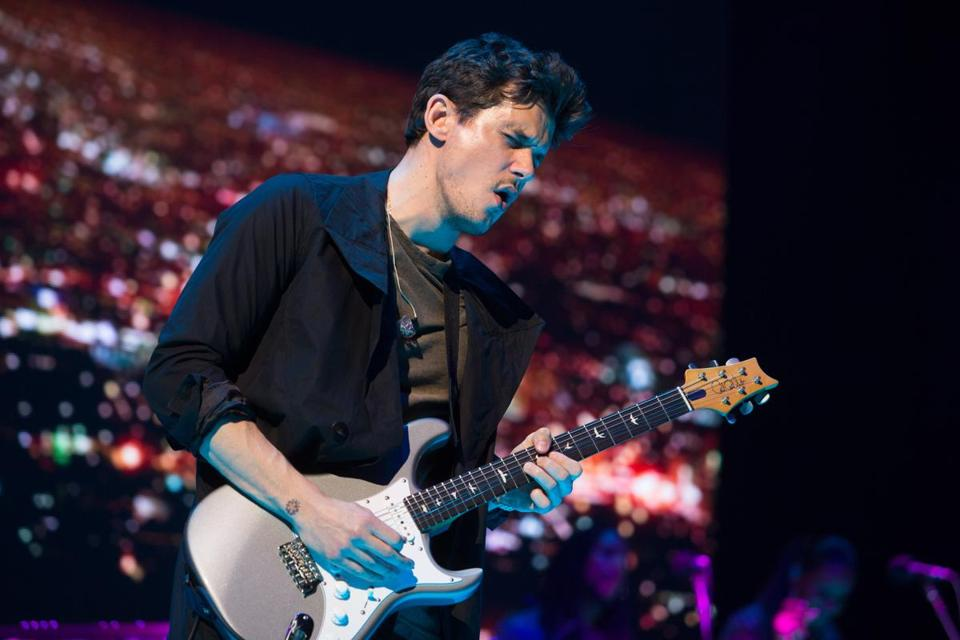 John Mayer performed at TD Garden on Sunday.