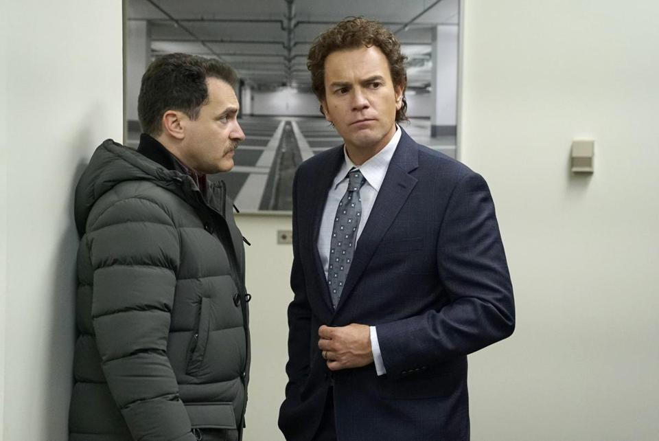 From left, Michael Stuhlbarg as Sy Feltz and Ewan McGregor as Emmit Stussy.