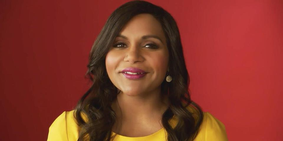 Mindy Kaling in the ad.