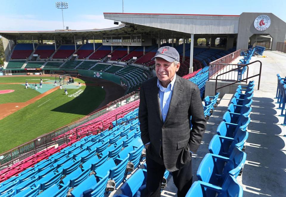 Pawtucket, R.I.-04/28/2017- Larry Lucchino is trying to find a new home for the Pawtucket Red Sox, as millions of dollars has to be spent to improve the old McCoy Stadium where they currently play. John Tlumacki/Globe Staff (business)
