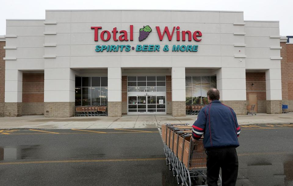 Total Wine operates four Massachusetts stores, including in Everett (above) and Natick.