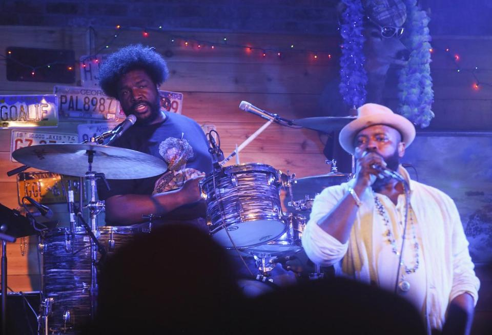 The Roots' Questlove (left) and Black Thought will perform at the Newport Jazz Festival.