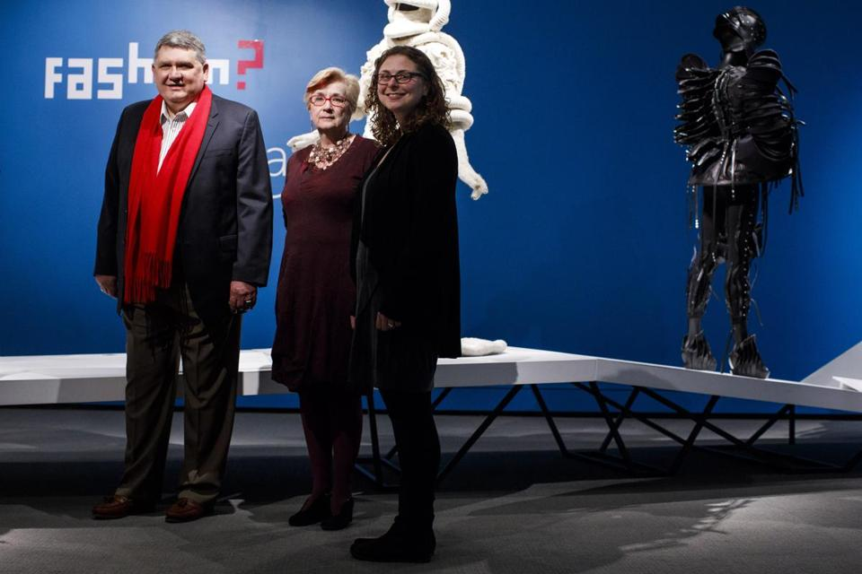 From left: Peabody Essex Museum director Dan Monroe, deputy director Lynda Roscoe Hartigan, and Asher will apply brain science to museum displays.
