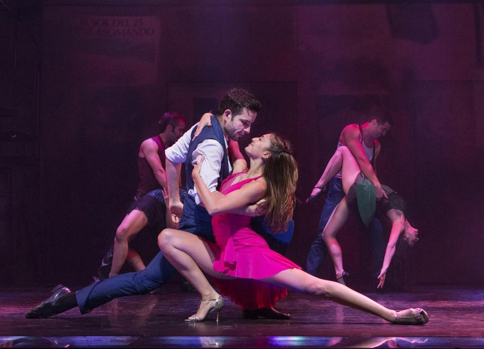 "Juan Cupini and Micaela Spina in ""Arrabal."""