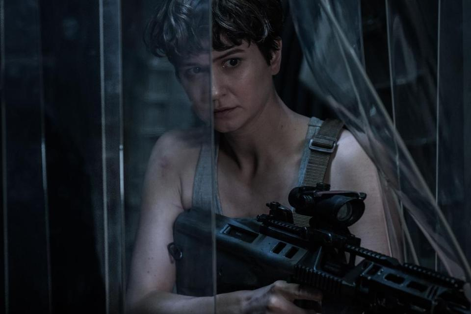 "Katherine Waterston in a scene from ""Alien Covenant."""