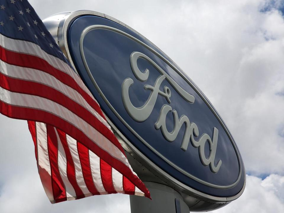 MIAMI, FL - MAY 16: A Ford sign is seen on a dealership's lot on May 16, 2017 in Miami, Florida. Ford Motor company annouced it is planning to cut about 10 percent of its global workforce. (Photo by Joe Raedle/Getty Images)