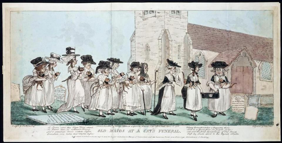 1795 cat lady sketches