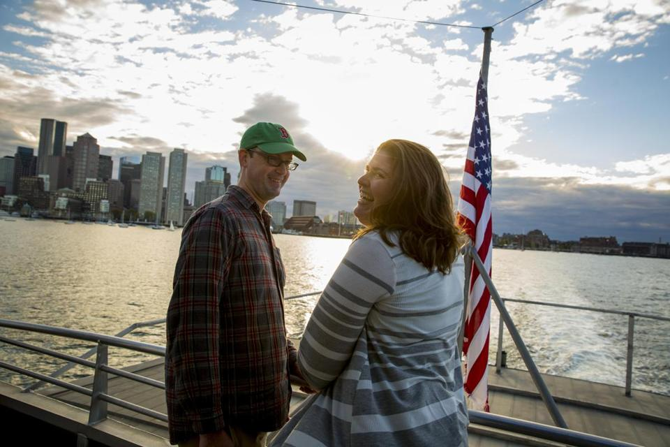 After moving to Hull, Jennifer McGill and Doug MacElhiney came to love their ferry commute to Boston.
