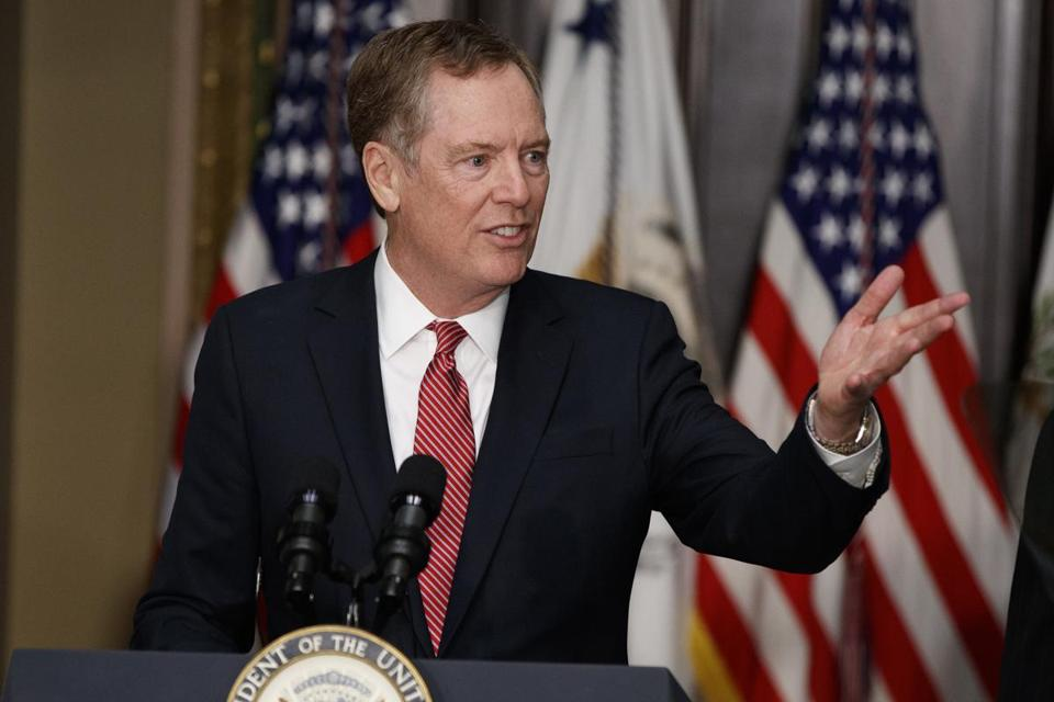 Robert Lighthizer is the US trade representative.
