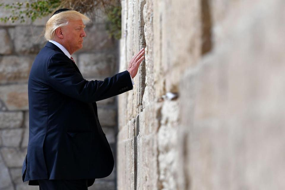 President Donald Trump visited the Western Wall in Jerusalems' Old City earlier this week.