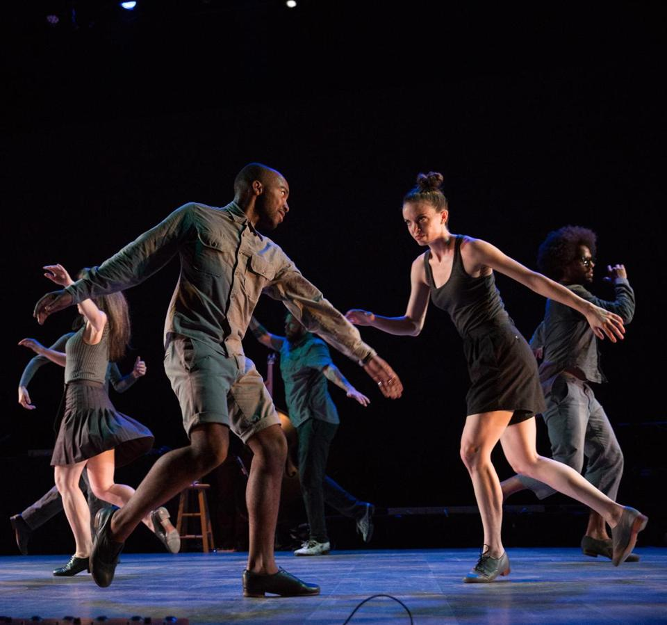 Members of the tap company Dorrance Dance at the 2016 All Styles Dance Battle at Jacob's Pillow