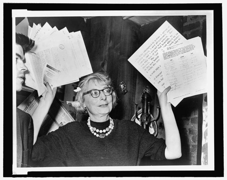 "Jane Jacobs in a scene from ""Citizen Jane: Battle for the City."""