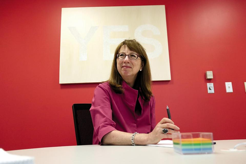 Staples CEO Shira Goodman has focused less on stores.