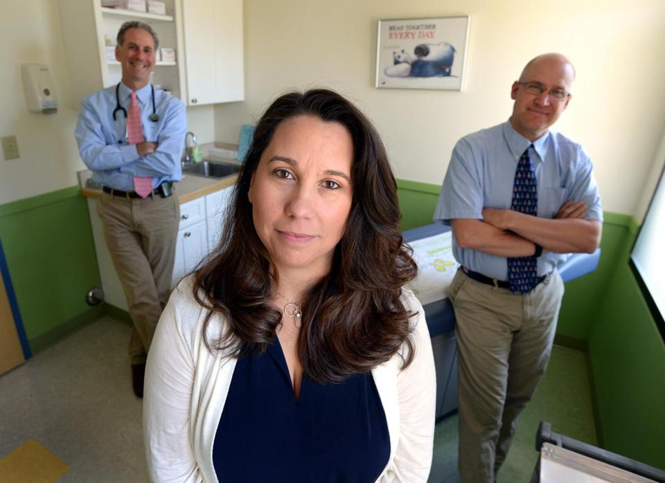 From left to right, Dr. Steven Mendes, substance abuse counselor Shannon Mountain-Ray, and Dr. Jason Reynolds have welcomed young patients with substance use problems to Wareham Pediatrics.