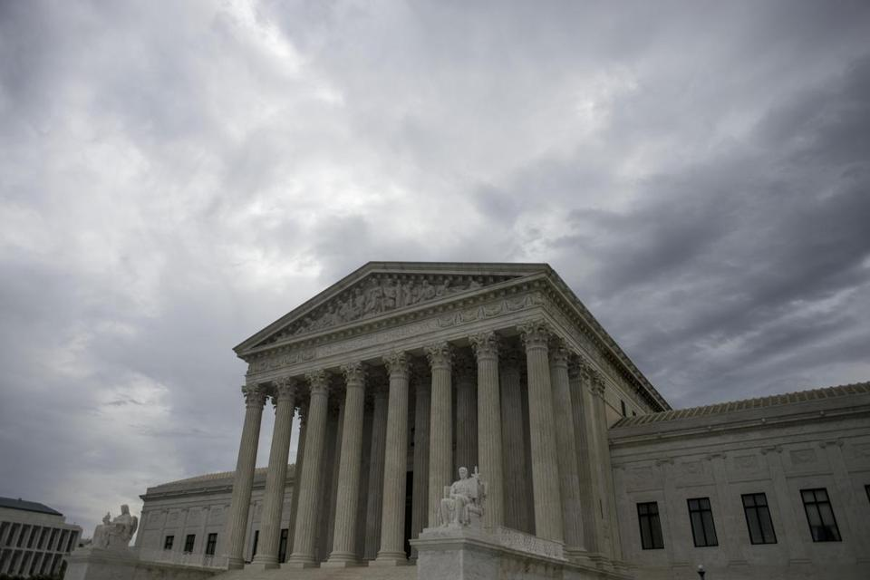 FILE-- The U.S. Supreme Court building in Washington, April 17, 2017. The court announced on June 19, that it would consider whether partisan gerrymandering violates the Constitution. The case could reshape American politics. In the past, the court has struck down election maps as racial gerrymanders that disadvantaged minority voters. But it has never disallowed a map on the ground that it was drawn to give an unfair advantage to a political party. (Gabriella Demczuk for The New York Times)