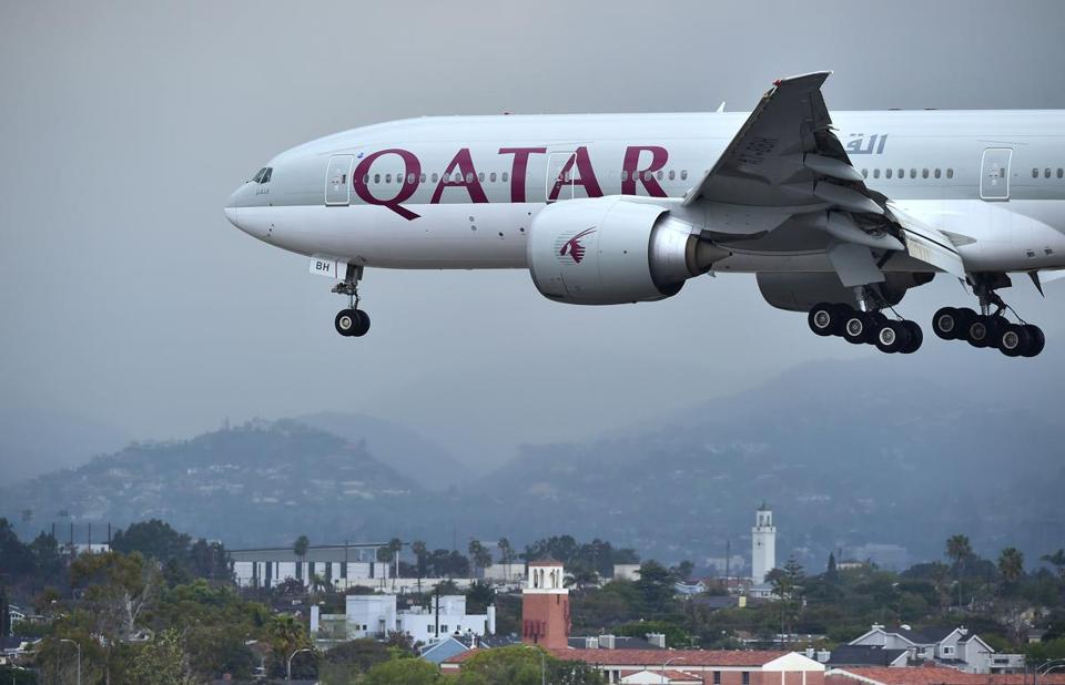 Qatar Airways can no longer fly to Bahrain, Egypt, Saudi Arabia, or the United Arab Emirates.