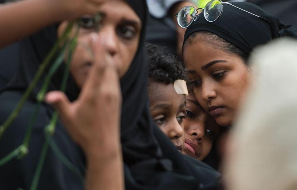 Family members cried during last week's vigil for Nabra Hassanen in Reston, Va.