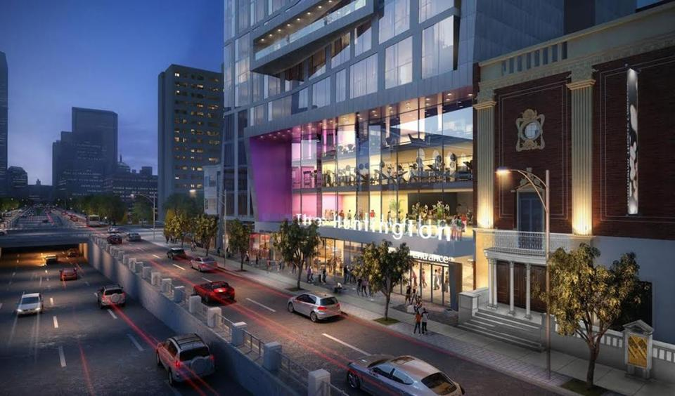 A new apartment tower would transform Huntington Avenue and the theater company that bears its name.