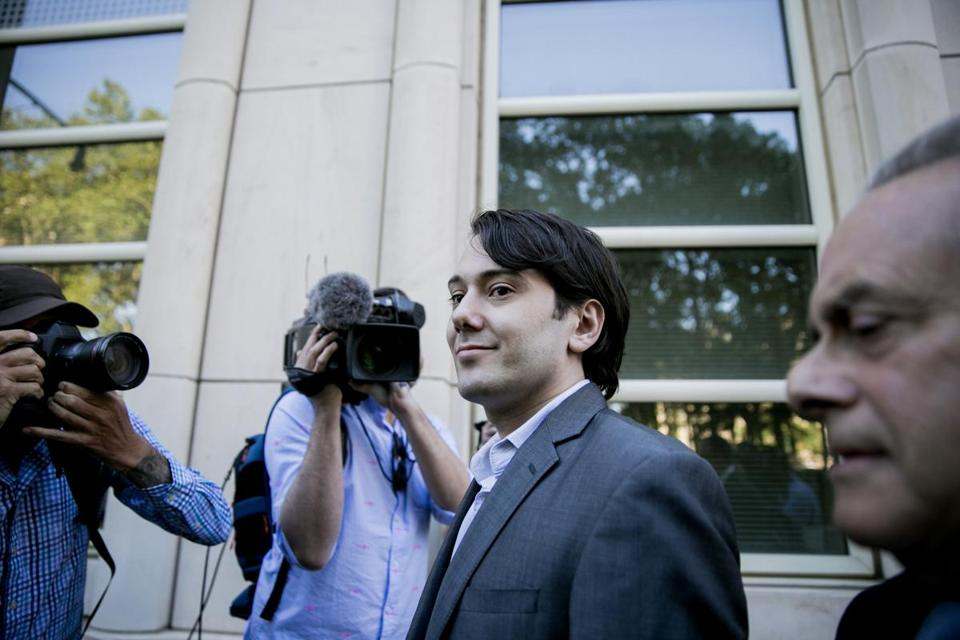 Martin Shkreli, the former hedge fund manager, headed into federal court in New York on Monday for the start of his securities fraud trial.