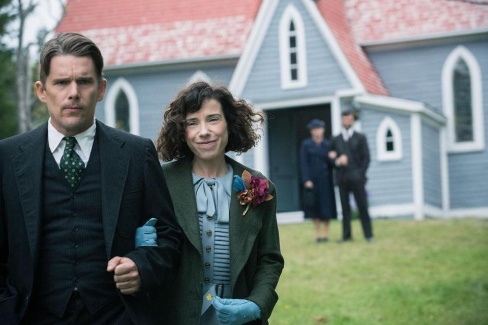 "Ethan Hawke and Sally Hawkins in director Aisling Walsh's ""Maudie."""
