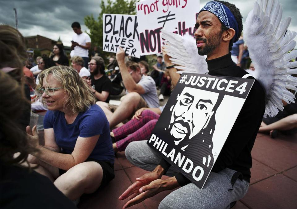 Protesters in St. Anthony, Minn., marched last week after the acquittal of Officer Jeronimo Yanez, who was found not guilty of manslaughter for shooting Philando Castile during a 2016 traffic stop.