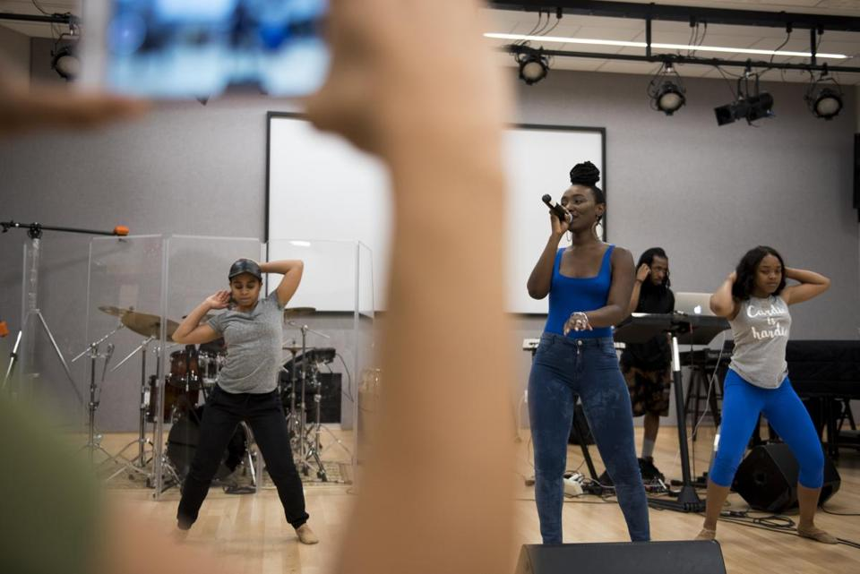 At Berklee, Mayah Dyson preps for her upcoming performance at the Essence Festival in New Orleans.
