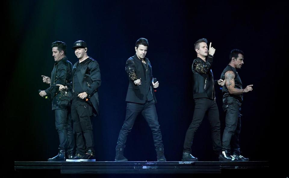 New Kids on the Block will perform at Fenway Park Saturday night.