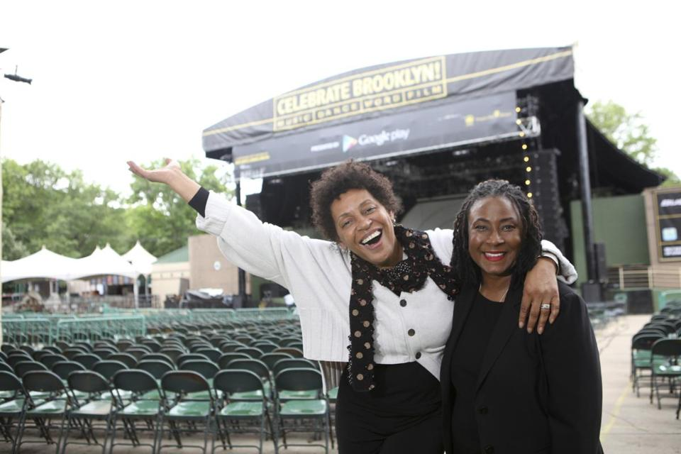 Ms. Allen (right) in 2012.