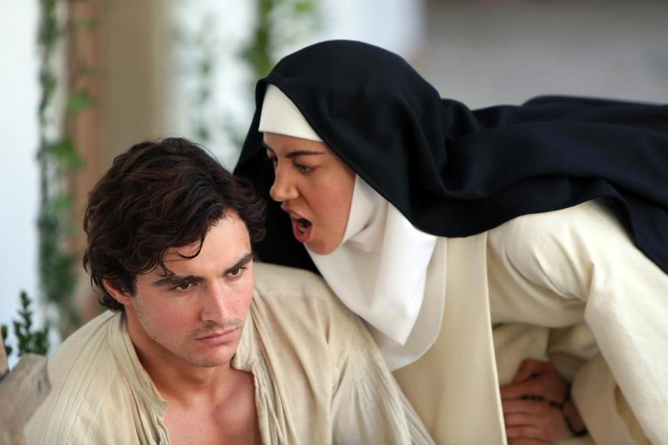"Dave Franco and Aubrey Plaza in Jeff Baena's ""The Little Hours."""