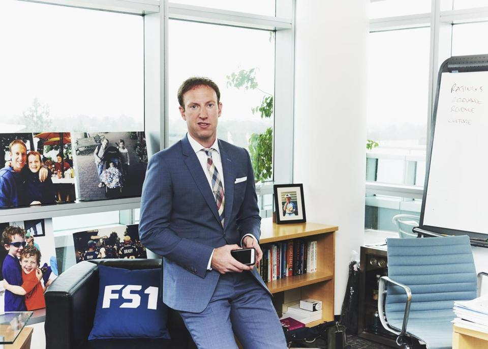 FILE — Jamie Horowitz, an executive in charge of sports programming at Fox Sports, in his office in Los Angeles, May 4, 2016. Fox Sports on Monday abruptly fired Horowitz as the company investigates claims of sexual harassment, according to someone familiar with the situation who was not authorized to speak publicly. (Jake Michaels/The New York Times)